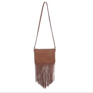 H&M tan fringe small shoulder bag